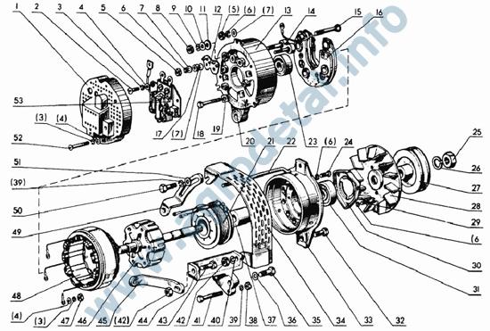 Ремень 11х10-1250 генератора (вентилятора) Д-240 (МТЗ-80.