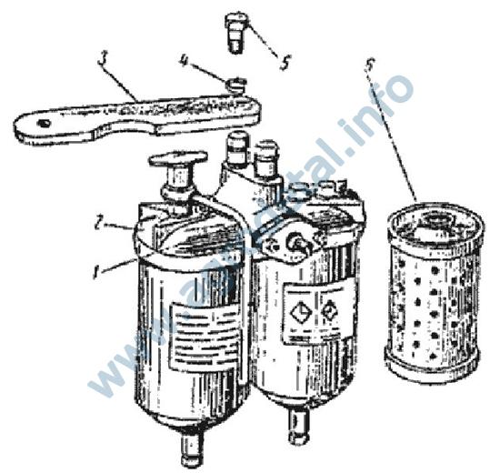 Фильтр топливный тонкой очистки МТЗ (корпус в сборе) (240.